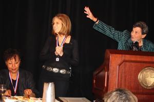 Gloria Steinem and Eleanor Pam