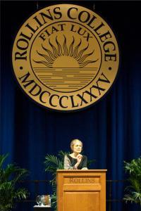 Gloria Steinem - Rollins Podium