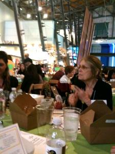Gloria at table